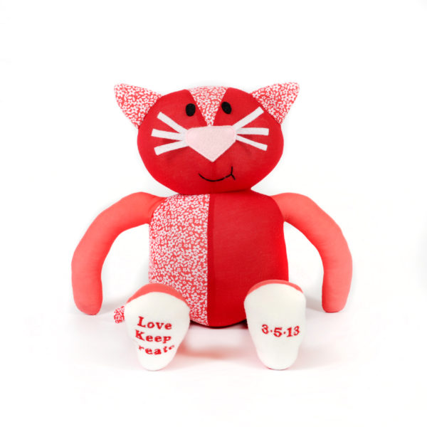 Cat Soft Toy Made From Pet Bedding