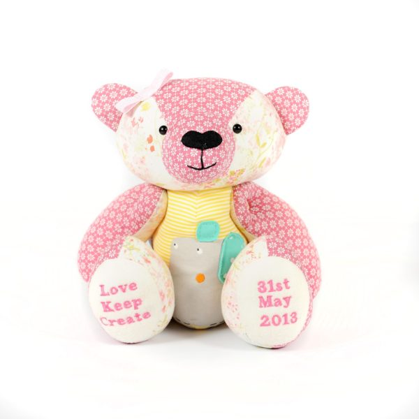 Bear Soft Toy Made From Pet Bedding