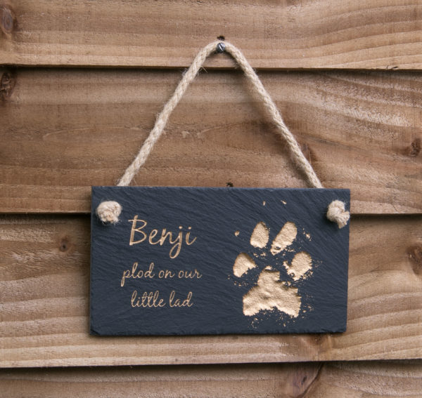 Hanging Pet Memorial Slate