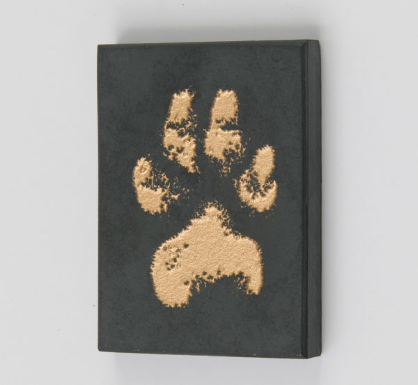 Slate Pet Memorial with Paw Print